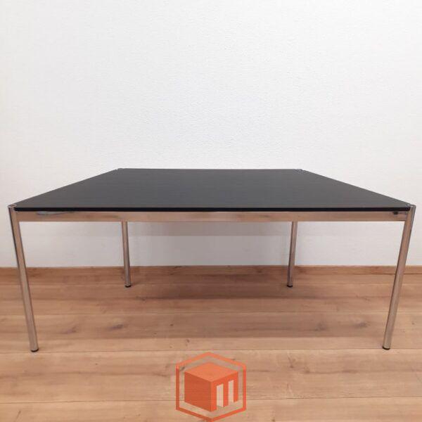 usm haller Tisch 4-Ecke Schwarz Eiche